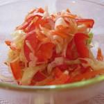Сала из белокочанной капусты
