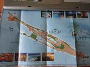 Карта острова Исла-Мухарес