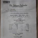 Сертификат для календаря майя.