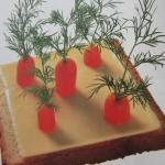 бутерброд из овощей