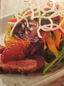 блюда из утки, салаты