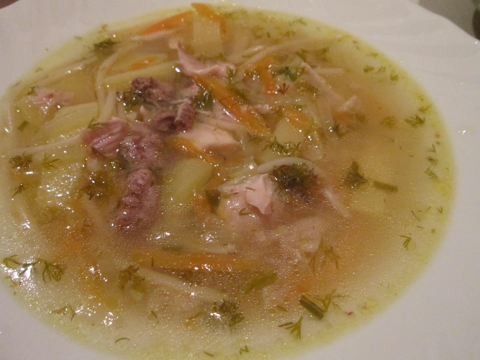 Как сделать куриный суп с картошкой и вермишелью