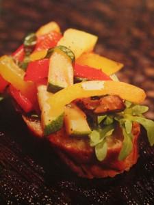 Бутерброд с овощами. Закуски для фуршета