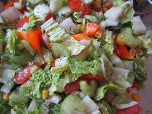 Салат из свежих овощей. Постные блюда
