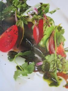 Постные блюда. Тёплый салат