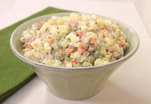 Зимний салат. Салат из отварных овощей